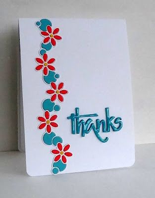 Border Die Card like the Glossy Accents