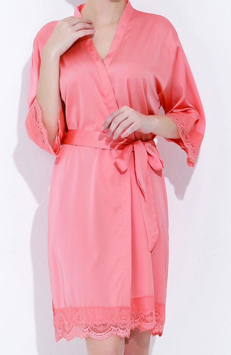 Mejores 161 imágenes de Bridesmaid Robes en Pinterest | Damas de ...