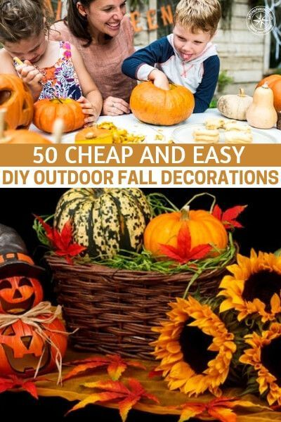 50 And Easy Diy Outdoor Fall Decorations Harvest Thanksgiving Everything Pinterest Decor