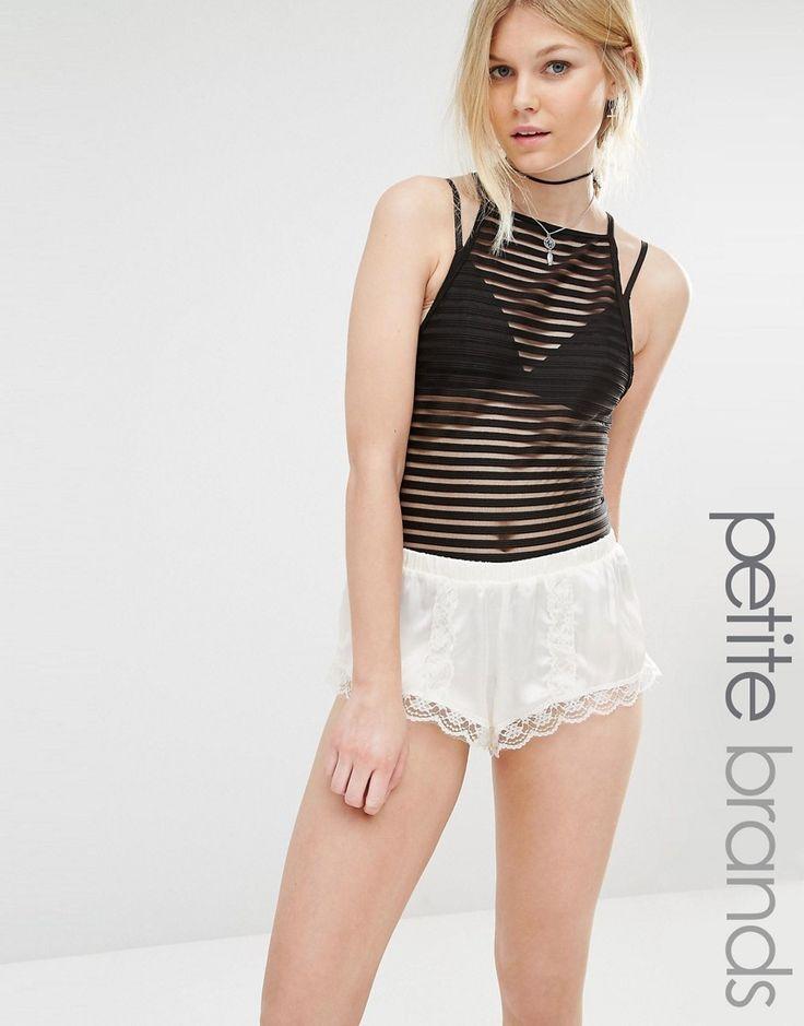 Boohoo+Petite+Stripe+Mesh+Body