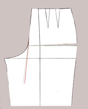 The Fitting Life: Adding length at side seam - pants