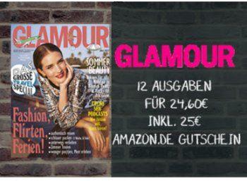 Glamour: Jahresabo für 24,60 Euro mit Amazon-Gutschein über 25 Euro https://www.discountfan.de/artikel/lesen_und_probe-abos/glamour-jahresabo-fuer-2460-euro-mit-amazon-gutschein-ueber-25-euro.php Das Abo selbst kostet 24,60 Euro, im Gegenzug lockt ein Amazon-Gutschein über 25 Euro – für kurze Zeit gibt es jetzt die Glamour zum Discountfan-Preis. Glamour: Jahresabo für 24,60 Euro mit Amazon-Gutschein über 25 Euro (Bild: Druckerzubehoer.de) Das Jahresabo der Glamo