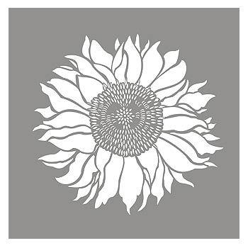 Sunflower Stencil Sunflower Head design | DOODLES ...