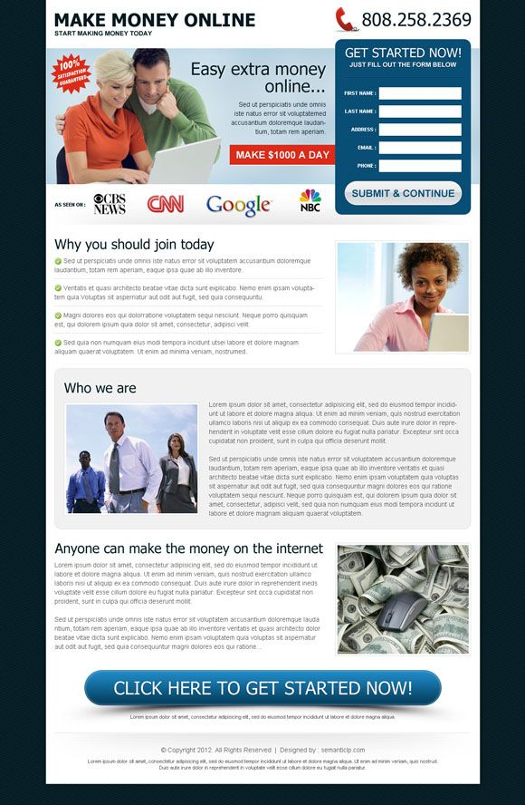 Download make money online or earn money online landing page | Pay ...