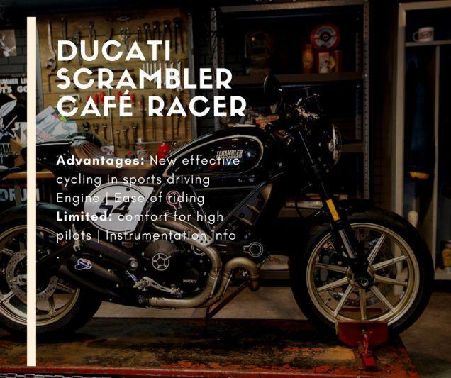 Ducati Scrambler Café Racer: A classic gets worse and more sporty. VIDEO
