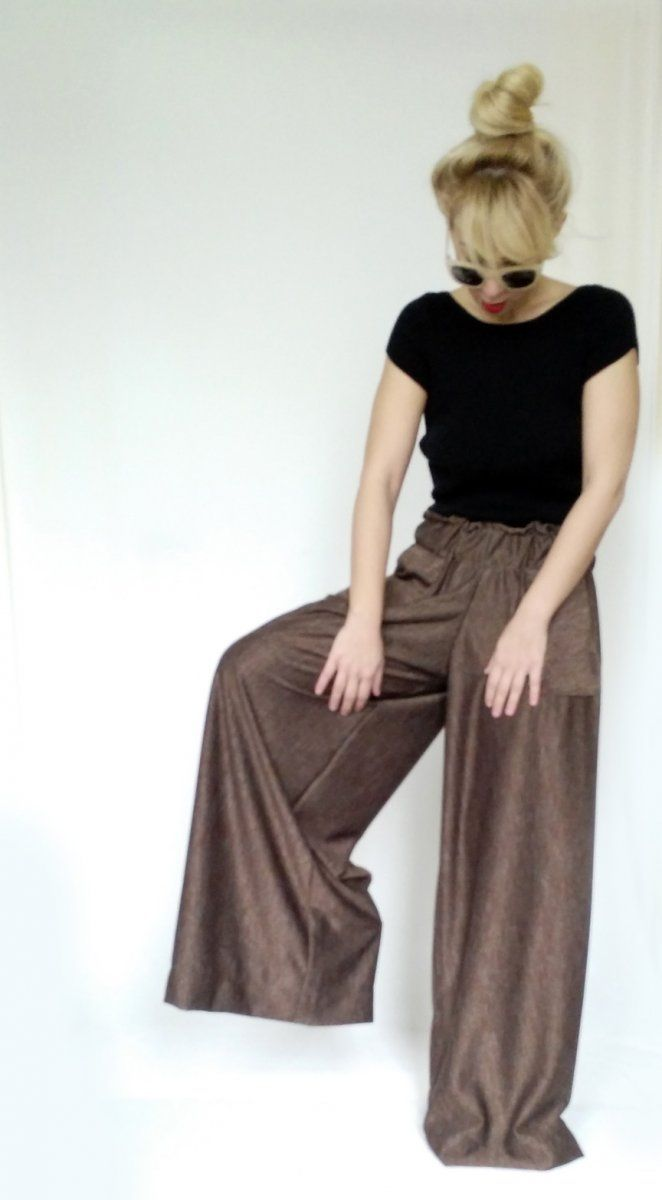 Wibe Leg Trousers Brown