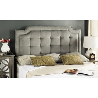 Safavieh Saphire Pewter Upholstered Tufted Headboard (King) Awesome Design