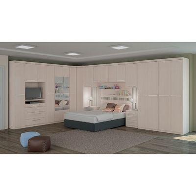 Quarto de casal modulado estilo moderno Carvalle - Kappesberg R$5758.70
