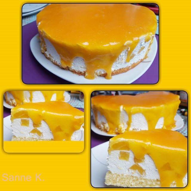 Solero-Torte   Teig: 5 geh. Essl. Mehl4 schwach geh. Essl. Puderzucker3 Eier3 Essl. Pflanzenöl/Sonnenblumenöl2 Essl. Vanillezucker2 Essl. Essig1 Essl. Backpulver  Schmetterlingseinsatz im Mixtopf eins