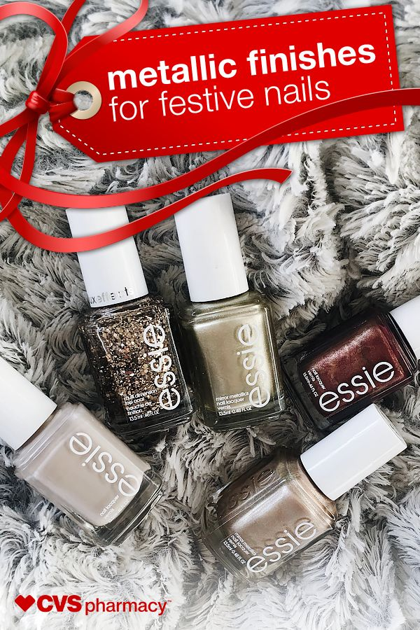 Style expert Jess Franklin reveals how to get the latest metallic looks from the best holiday nail polishes. Check out some of her favorites from Essie, including her must-have base and top coat all-in-one!