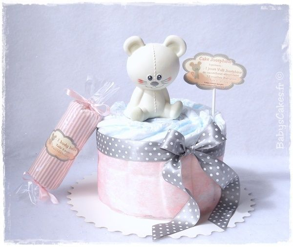 Mini gâteau de couches fille candy josephine