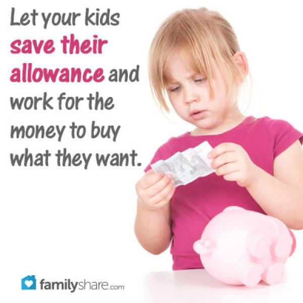 FamilyShare.com l 5 ways to teach your children the value of money