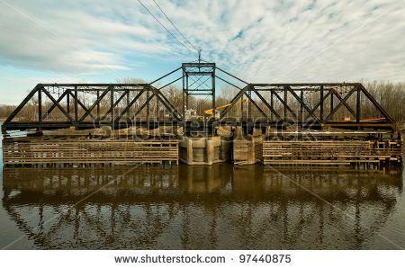 Old Abandoned Swinging Train Bridge in Savage Minnesota by Scruggelgreen, via Shutterstock