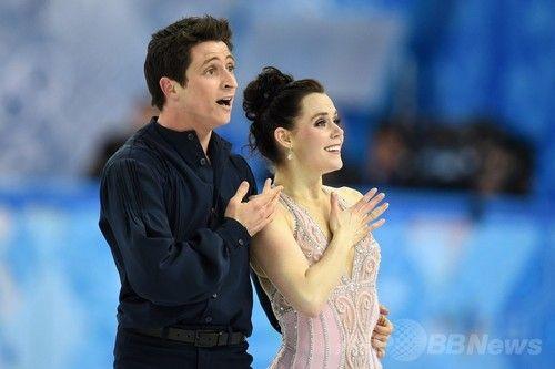 アイスダンスで銀メダルのヴァーチュー/モイア組、ソチ五輪