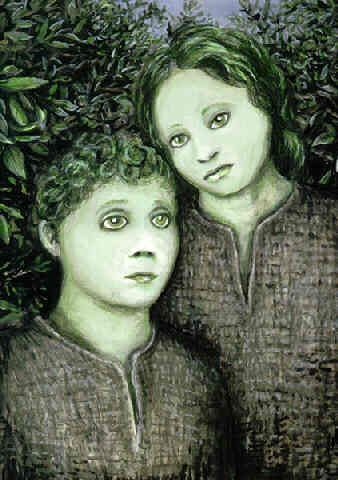 The legend of the Green Children of Woolpit concerns two children of unusual skin colour who reportedly appeared in the village of Woolpit in Suffolk, England, some time in the 12th century.