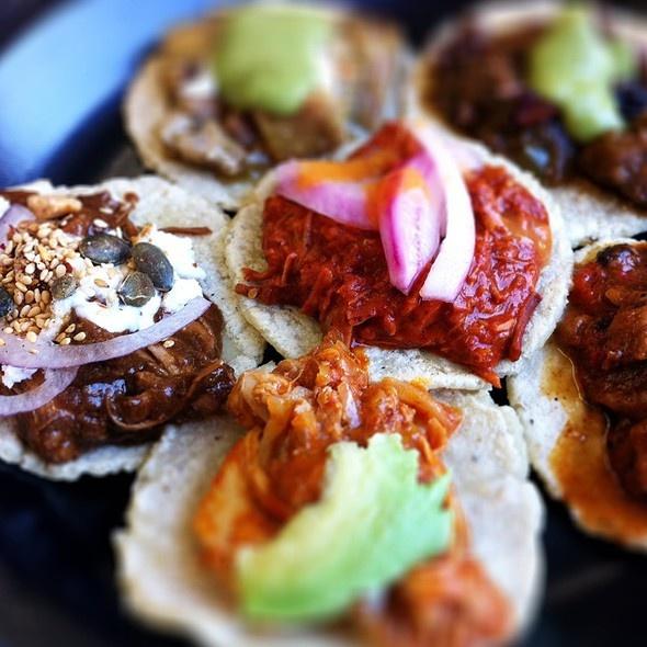 Taco sampler @ Guisados Tacos Guisados Tacos  2100 East Cesar E Chavez Avenue, Los Angeles, CA 90033, United States