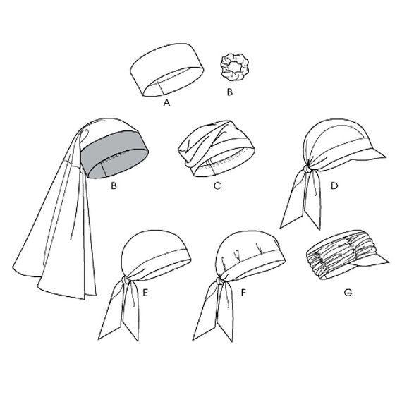 Turban Head Wrap Muetzen Caps Nähen Muster Krempe von CynicalGirl