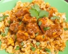 Dinde et blé au curry minceur (facile, rapide) - Une recette CuisineAZ
