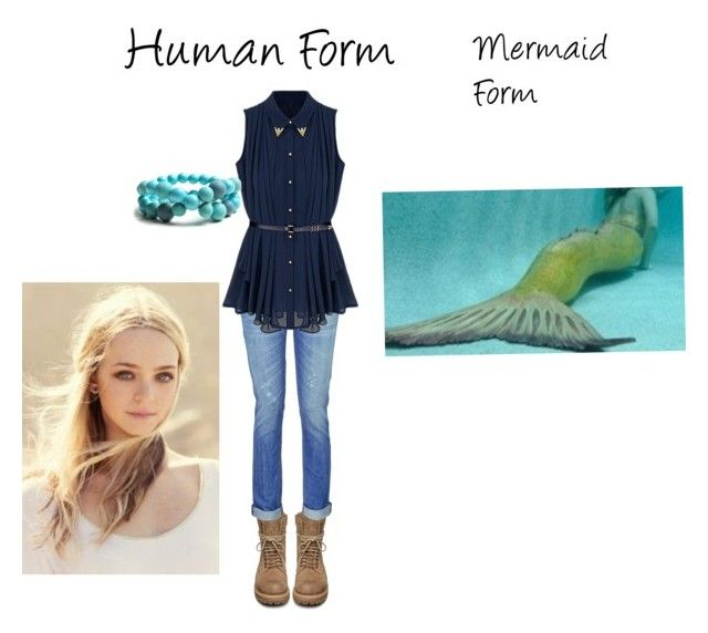 Kim the mermaid by aaustin03290 on Polyvore featuring art.  Alright, after seeing Cleo Massey in a mermaid tail and Kim Sertori's behavior in season 3 of H2O, I figured that, if the moon pool wasn't so badly damaged, this would happen!