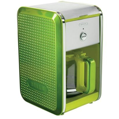 Bella One Cup Coffee Maker Turquoise : Bella Dots 12 Cup Coffee Maker - Lime Green. Suggested Retail Price: USD 34.99 #BellaDots # ...