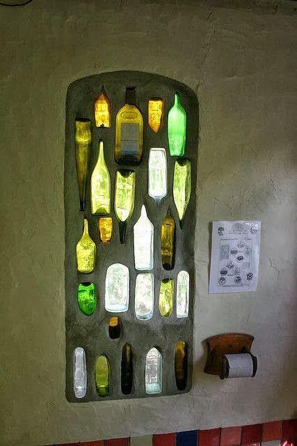 Bottle window--something like this for the garden....