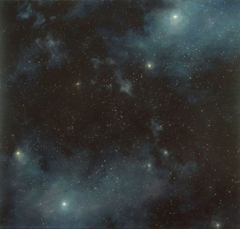 Starfield, 5, 2006 acrylic on linen by Dozier Bell