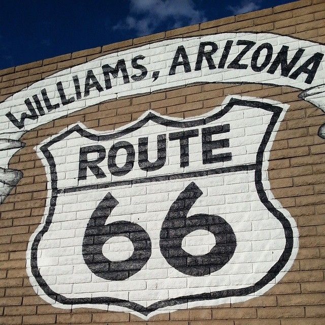 Historical Route 66 in Williams, AZ. On our way to Grand Canyon. Overnight here