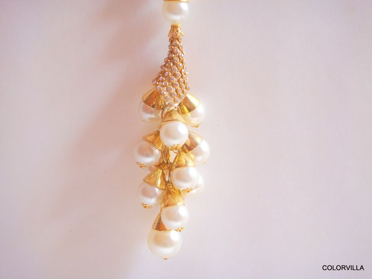 60% OFF Beautiful Handcrafted Gold Plated Chinese Pearl Key chain by colorvilla on Etsy