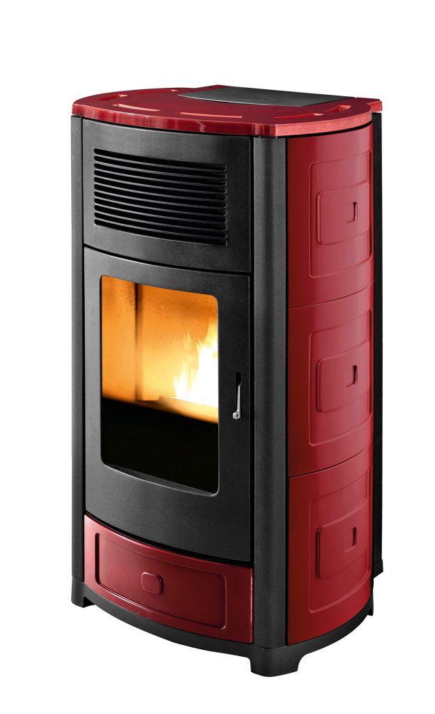 Suite, wood pellet stove by Mcz