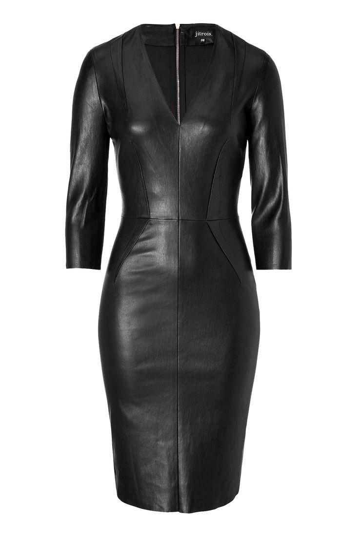 Jitrois tight black Leather Dress Miley Cyrus