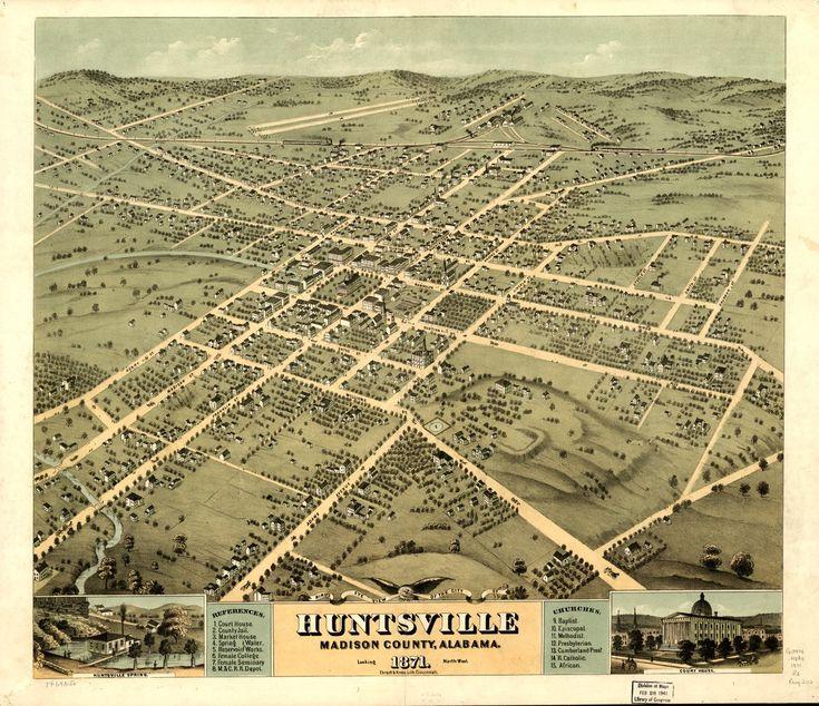 26 best signage images on pinterest fotografie vintage vintage map huntsville alabama 1871 publicscrutiny Image collections