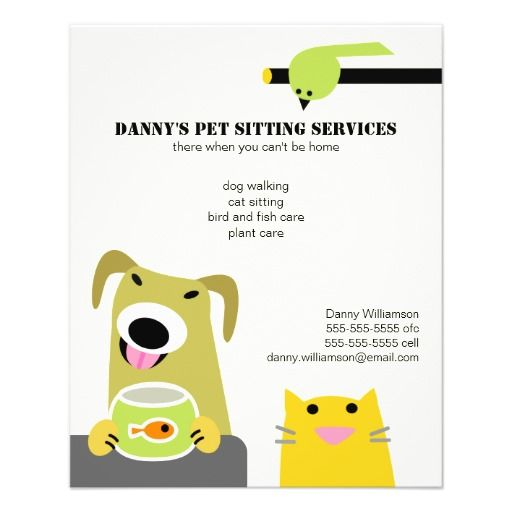 dog sitting flyers