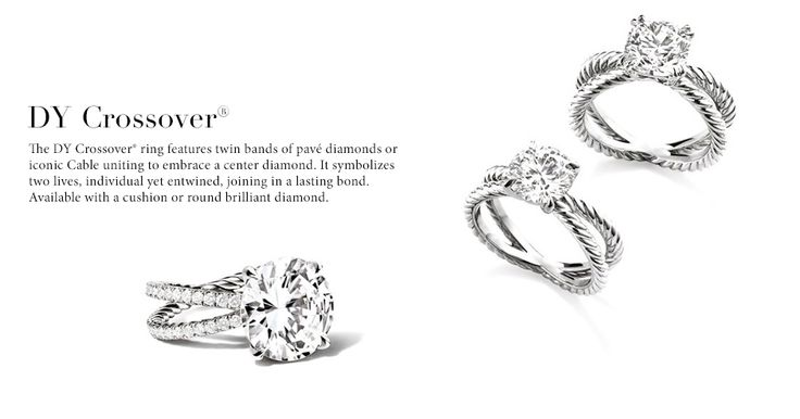 Idk why I'm pinning this but a girl can dream.....David Yurman Engagement Rings