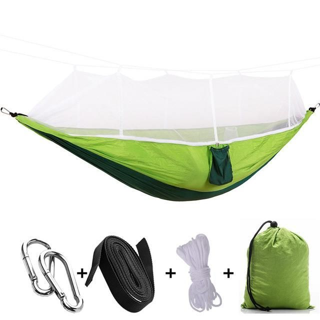 Person Outdoor Mosquito Net Parachute Hammock