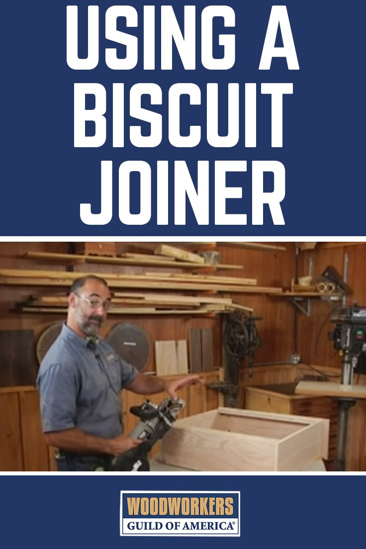 Biscuit joiners are great for when you want to securely fasten a butt joint on your woodworking projects. George Vondriska teaches you how to use the biscuit joiner to attach a shelf at a 90-degree angle to the face of another board. A WoodWorkers Guild of America (WWGOA) original video.