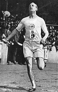 Eric Liddell, The Flying Scotsman, won Gold in the 400m. at the Paris Olympics in 1924.  His story is told in the Best Picture movie Chariots of Fire.  Born in China, he returned to that country as a missionary, and died there in an internment camp in February 1945.
