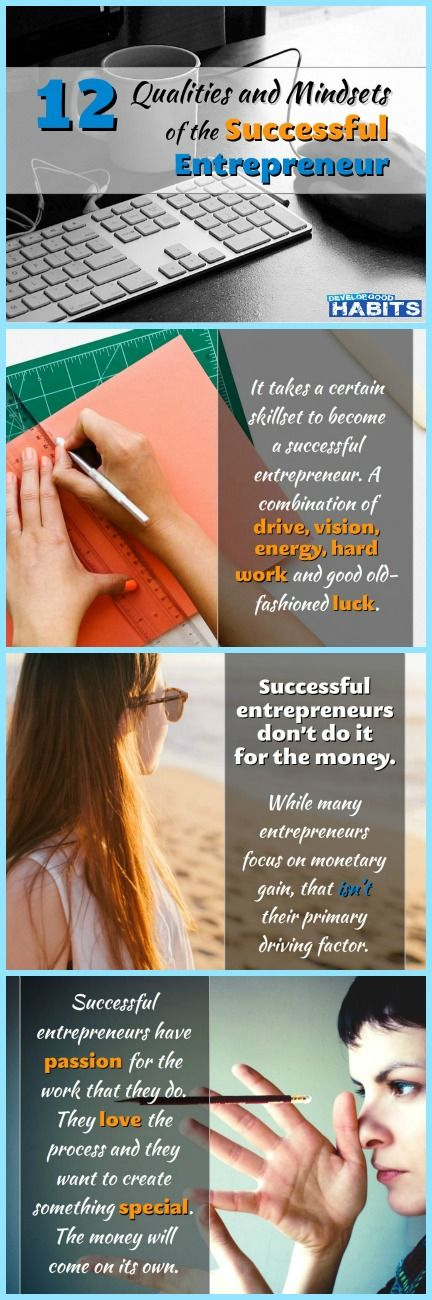 Habits of a Successful Entrepreneur : #1 They don't do it for the money. See more: http://www.slideshare.net/stevescottsite/12-qualities-and-mindsets-of-the-successful-entrepreneur