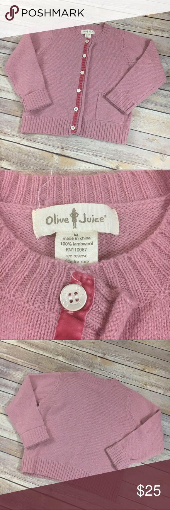 Olive Juice Cardigan Sweater Pink M 5/6 | Olive juice
