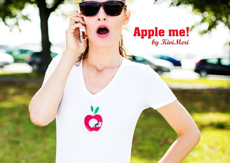 Apple necklace! @KiviMeri Lookbook: designer jewellery and fashion from Finland. For all who love apples! All our apples are made in Finland