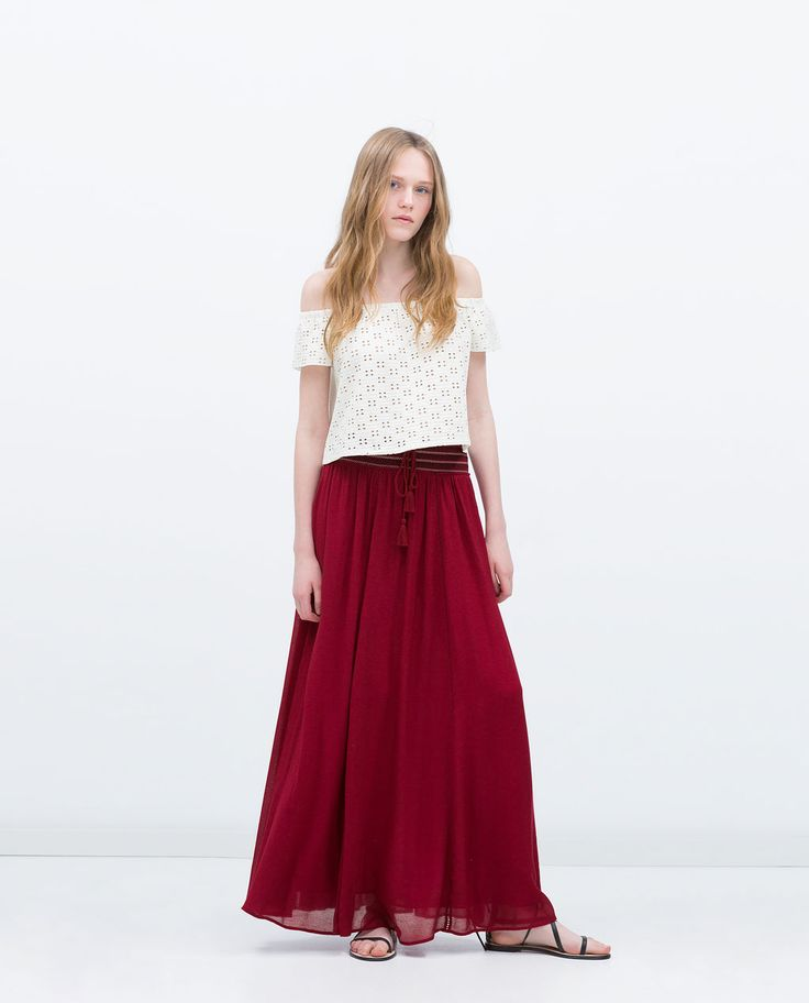 Image 1 of FLOWING SKIRT from Zara