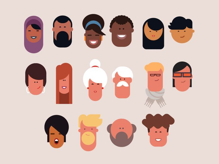 Characters for an animation.