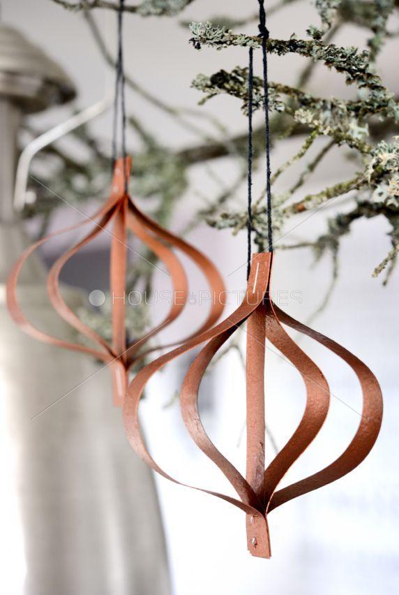 DIY rose gold christmas tree decorations #Roségold #Weihnachten