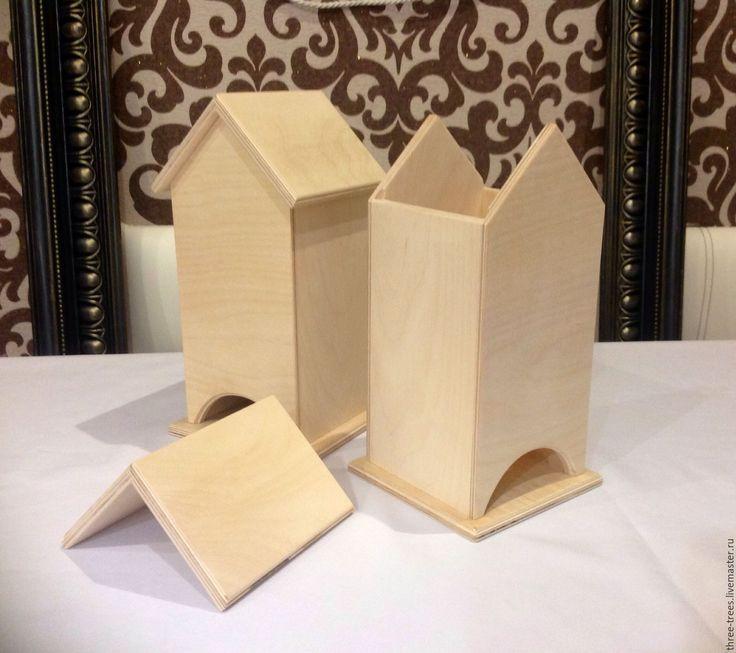 Купить Заготовка Чайный домик - бежевый, заготовки для декупажа, заготовки для творчества, заготовки для росписи