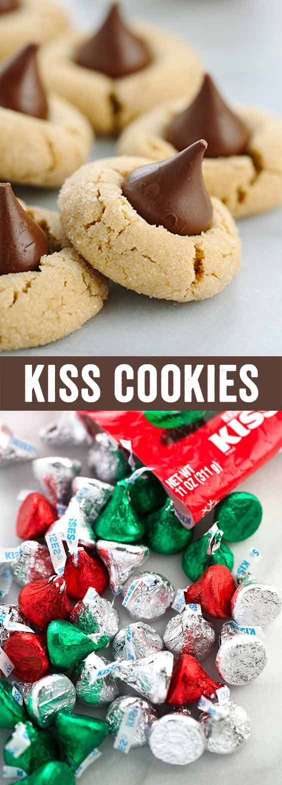 Classic Peanut Butter Kiss Cookies - a classic holiday tradition that everyone loves. Creamy peanut butter cookies are made special with milk Hershey's chocolate center.  via @foodiegavin