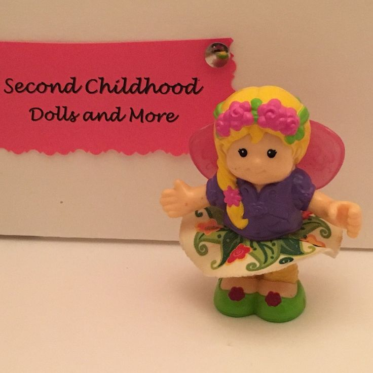 Little People Fairy Treehouse Part - 36: FISHER PRICE LITTLE PEOPLE FAIRY SARAH LYNN Jointed Poseable Figure Wings  Skirt