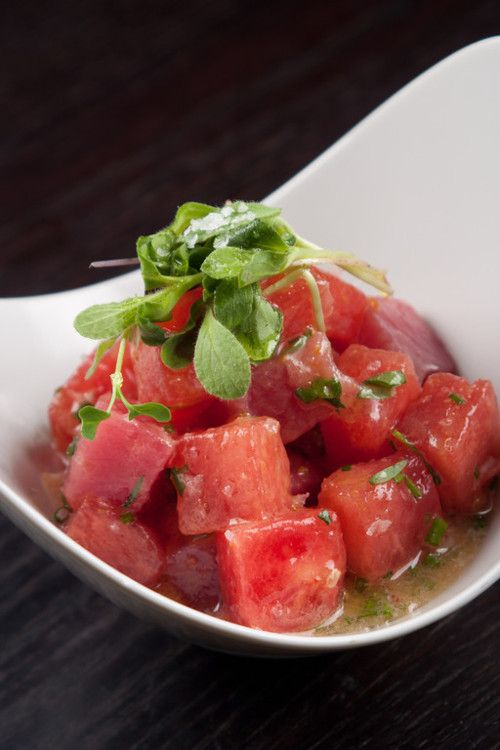 Recipe: Tuna Watermelon Ceviche by Cuban chef Douglas Rodriguez. #food #healthy
