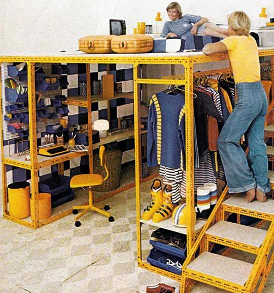 Meccano Style Loft - Not a bad idea at all if one has the ceiling space and tailors the look to one's needs. I would definitely use a different construction material, but I love the concept.