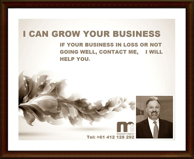 Highly Experienced CEO & Corporate Advisor.  Official Website :- www.marriottinterim.com.au