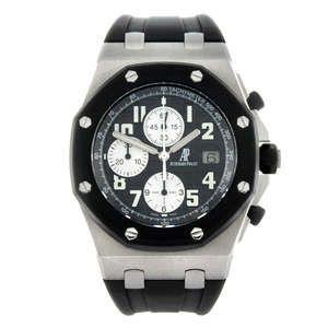 LOT:1 | AUDEMARS PIGUET - a gentleman's bi-material Royal Oak Offshore chronograph wrist watch.