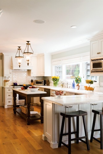 small kitchen House in the Hamptons traditional kitchen